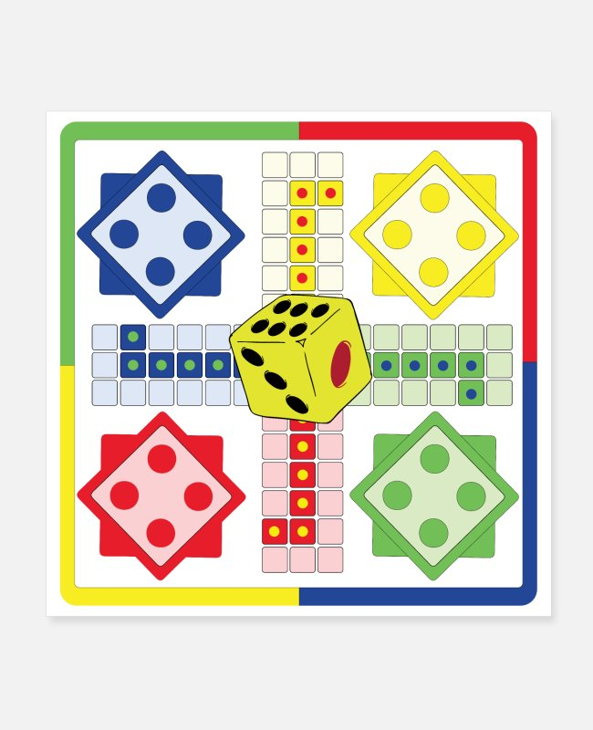 Virus Posters - ludo with dice - Posters white