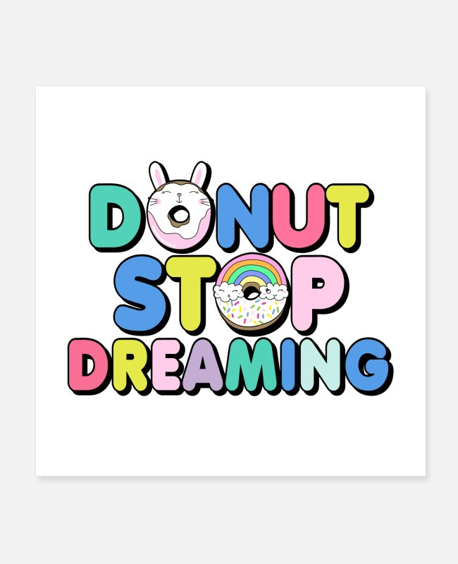 Donut Posters - donut - Posters white