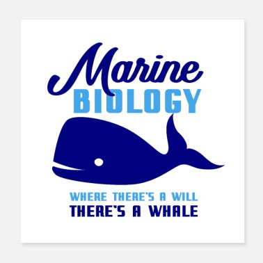 Biology Marine Biology Whale - Poster