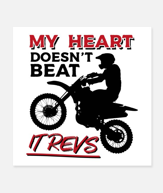 Sport Posters - My Heart Doesn't Beat It Revs - Posters white