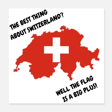 Comedy The Best Thing About Switzerland? Well The Flag Is - Poster