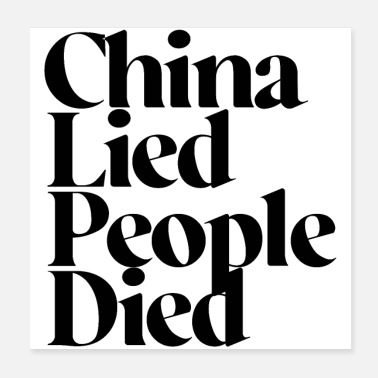 China China Lied, People Died - Poster