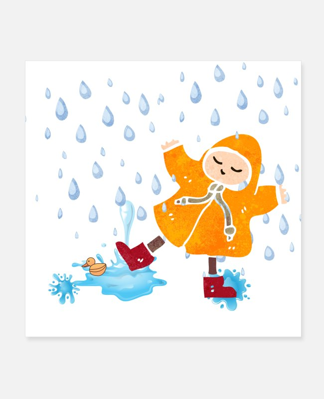 Play Posters - Playing in Puddles - Posters white