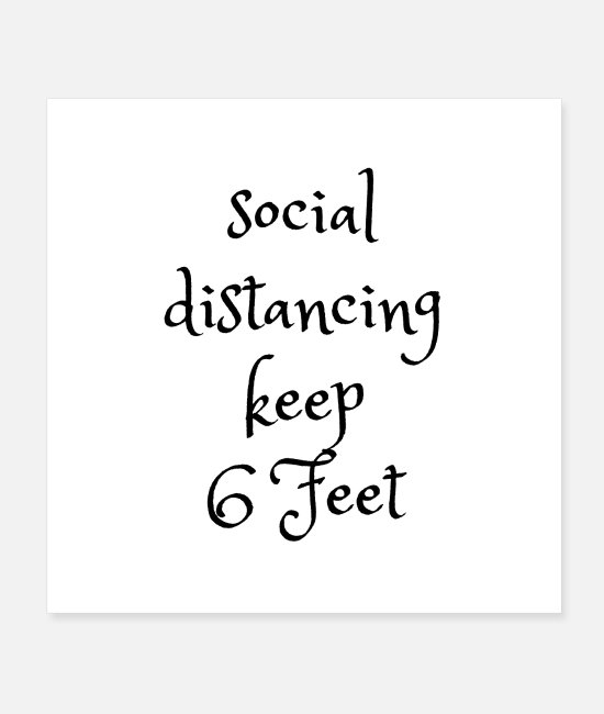 Deep Throat Posters - Socially distancing keep the distance 6 feets - Posters white