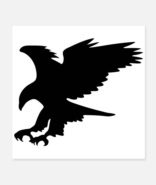 A Silhouette Of An Eagle Posters - Majestic Eagle in Flight Silhouette - Posters white