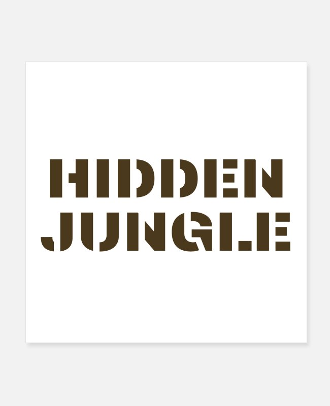 Torn Posters - Hidden Jungle - Posters white