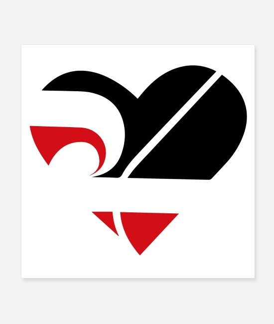 New Zealand Posters - Love Maori Heart Maori Flag Tribal Tattoo Gift - Posters white