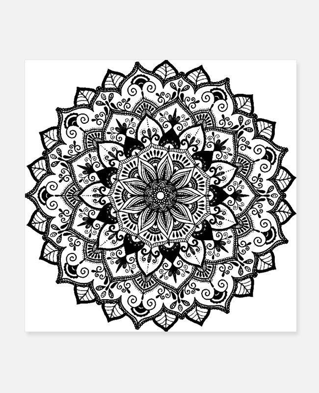 Mental Posters - Mandala for your meditation - Posters white