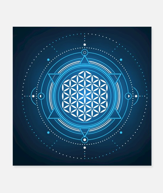 Flower Posters - Flower of Life - Posters white