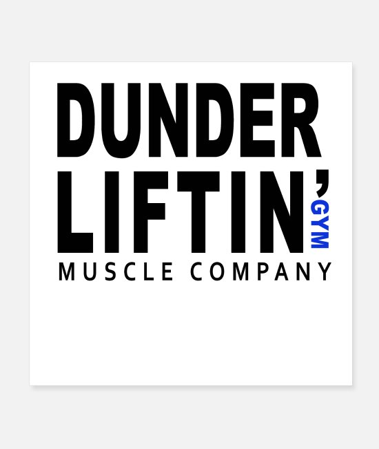 Boom Roasted Posters - Dunder liftin GYM muscule company - Posters white