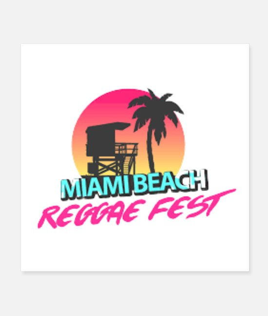 Sneakers Vetement Allaitement Posters - miami beach - Posters white