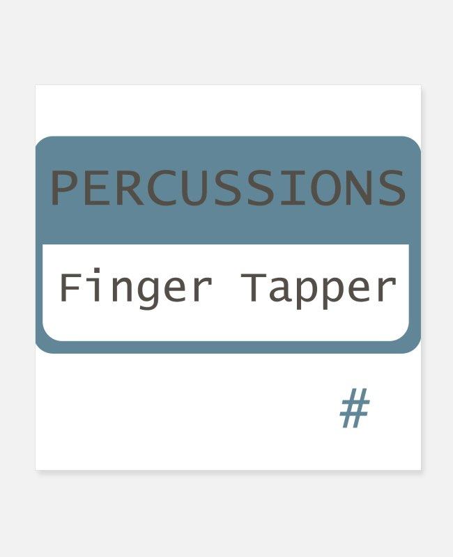 Drumsticks Posters - Finger Tapper - Posters white
