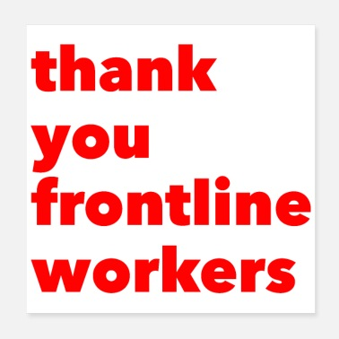 Staff Thank You, Frontline Workers - Poster