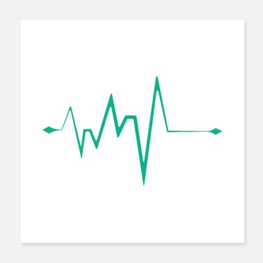 Beatbox Heart beat Green - Poster