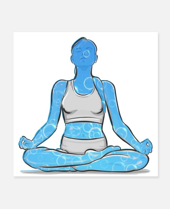 For Woman Posters - Yoga shirte, mug - Posters white