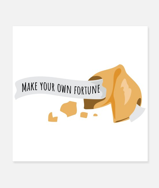 Inspiration Posters - Fortune Cookie Make your own fortune Funny Gift - Posters white