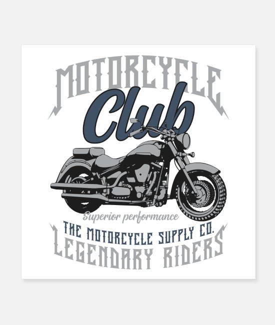 Biker Posters - Motorcycle Club - Posters white