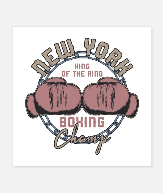 Heavy Metal Posters - New York Boxing Champ - Posters white