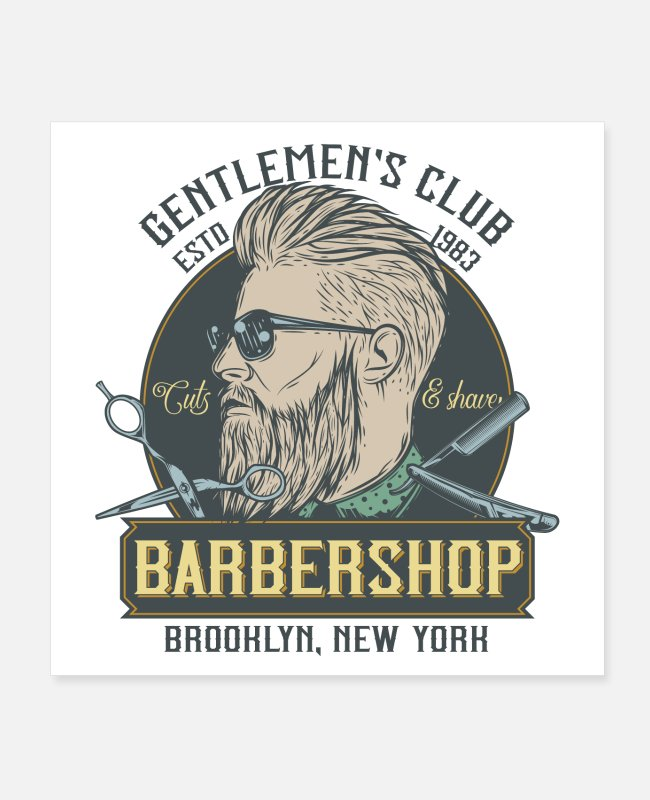 Hair Posters - Barbershop - Posters white