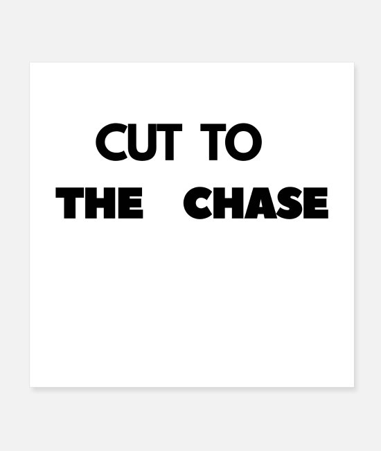BLACk TO SHCOOL Posters - CUT TO THE CHASE SHIRT DESIGN,HOODIE,GIFT - Posters white