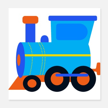 Transport Locomotive, train, steam engine, rail - Poster