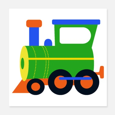 Locomotive locomotive, train, steam engine - Poster