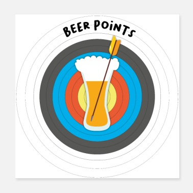 Cardinal Point archery and beer gift idea humor archer - Poster