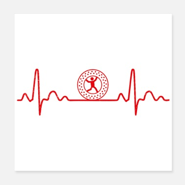 Workout Heartbeat Zorbing Globe-Riding Funny Gift Idea - Poster