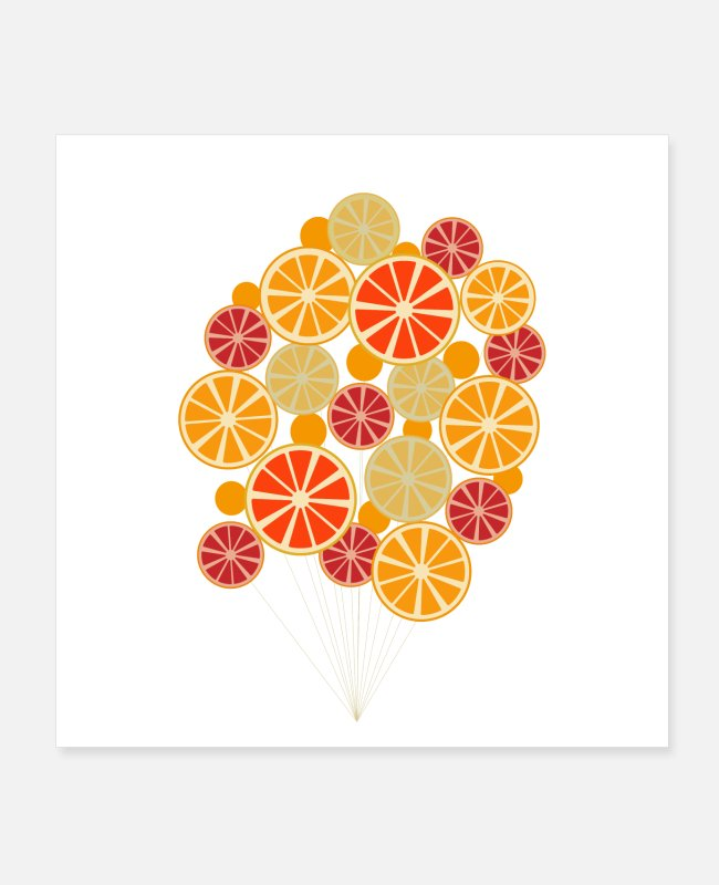 Pattern Posters - Citruses on Strings - Posters white