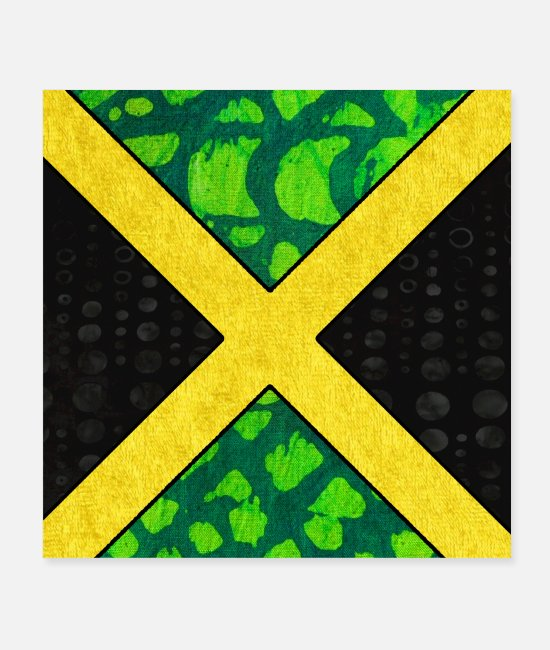 Jamaican Culture Posters - Jamaican Pride Flag - Posters white