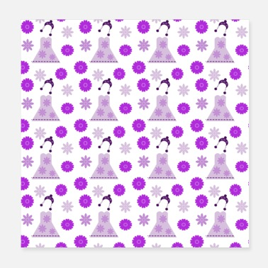 Dressage Riders lilac dress on white - Poster