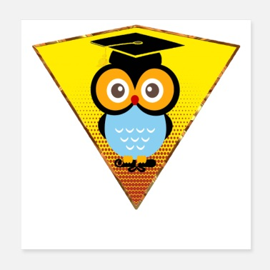 Nocturnal Bird Bachelor Owl - Poster