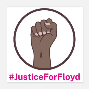 Against Justice for Floyd against the police - Poster