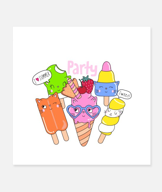 Hobbyists Posters - ice cream - Posters white