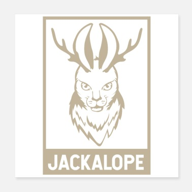 Mythology Jackalope Jackrabbit North American Gift - Poster
