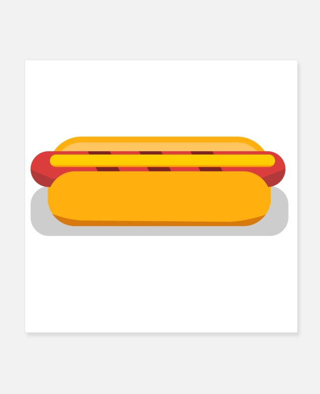 Eating Posters - Hot Dog - Posters white