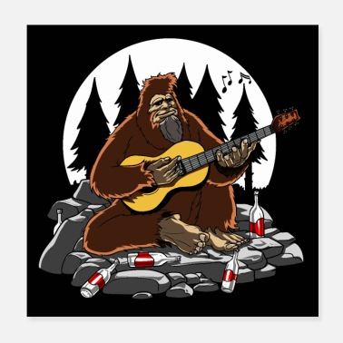 Funny Bigfoot Bigfoot Camping - Poster