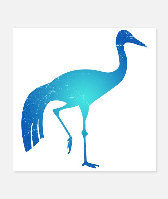 Origami Posters - Symbol South Africa Blue Crane Tribal Tattoo Gift - Posters white
