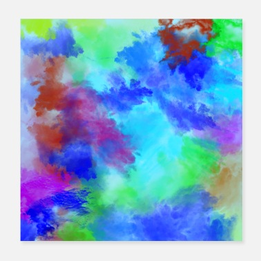 Paint Brush Poster Watercolor Art Abstract Art Paint Brush - Poster