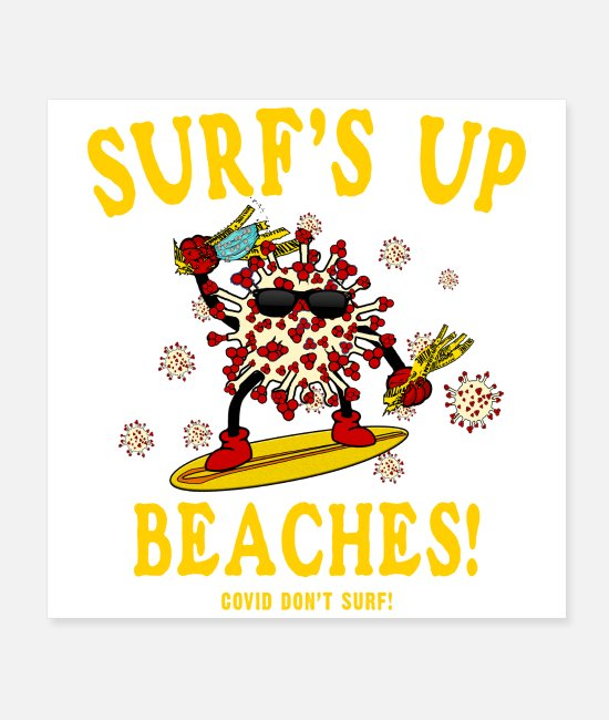 Virus Posters - SURF S UP BEACHES - Posters white