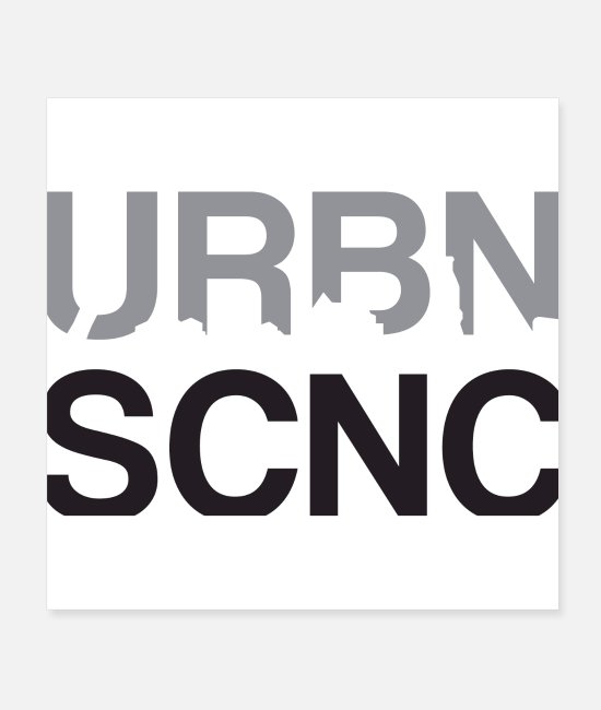 Rap Posters - URBN SCNC Classic Logo (dark) - Posters white