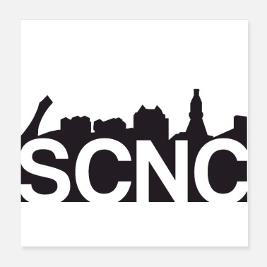 Classic Hip Hop URBN SCNC Classic Logo (White) - Poster