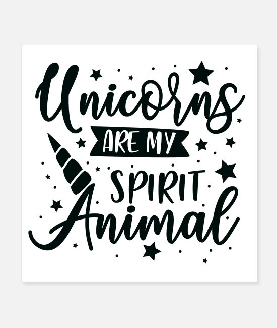 Cute Posters - cute gift idea unicorns like - Posters white