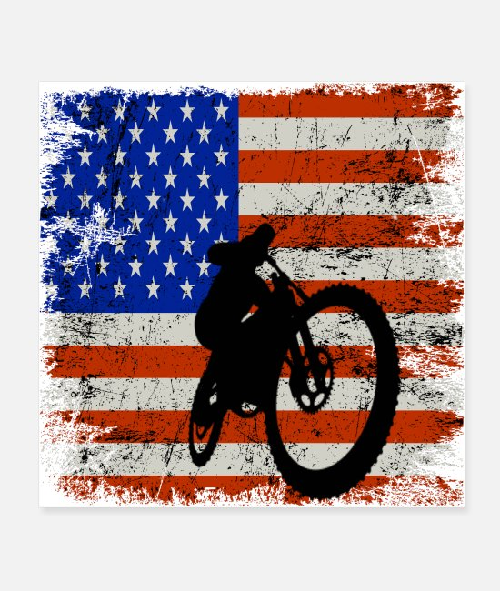 Sand Dunes Posters - Dirt Bike American Flag Shirt 4th of july t shirt - Posters white