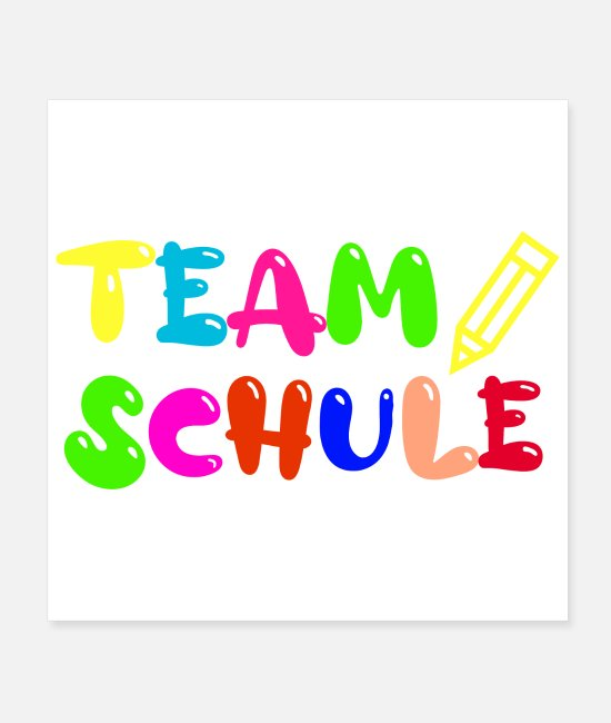 School Posters - School Team Schule Funny Gift Idea - Posters white