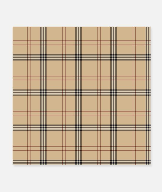 Pattern Posters - Plaid Pattern - Posters white