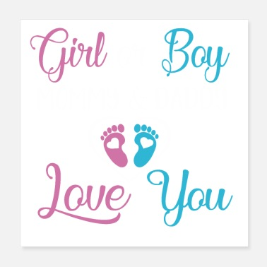 Baby baby girl boy Mommy and Daddy Love you - Poster
