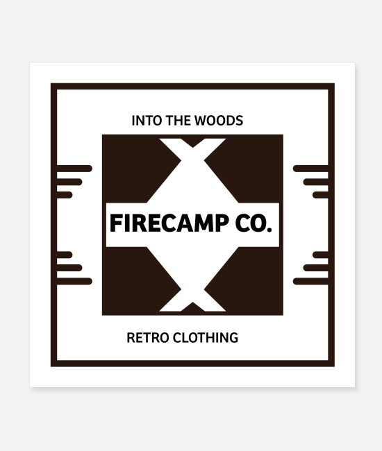 Heart Posters - Firecamp style - Posters white