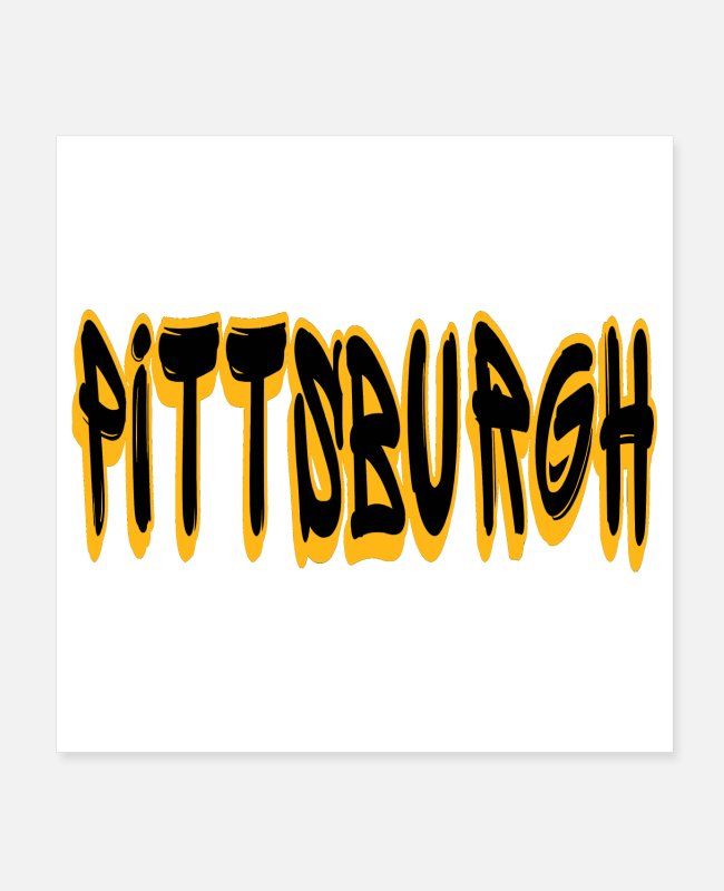 Fan Posters - Pittsburgh Graffiti Gifts - Posters white