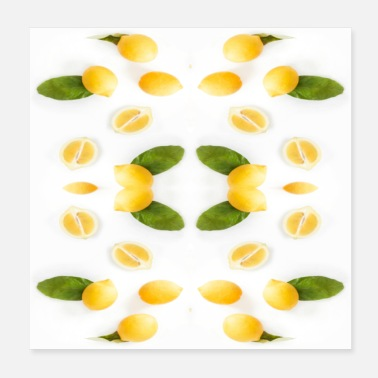 Isolated Isolated lemon - Poster